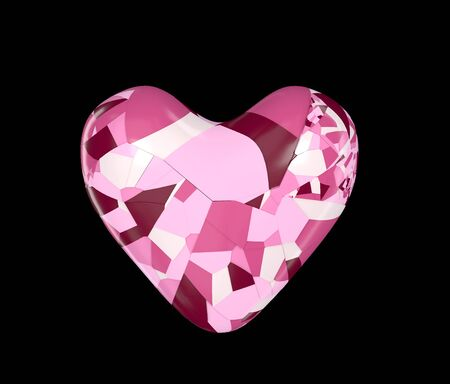Fashionable 5 color puzzle nice heart