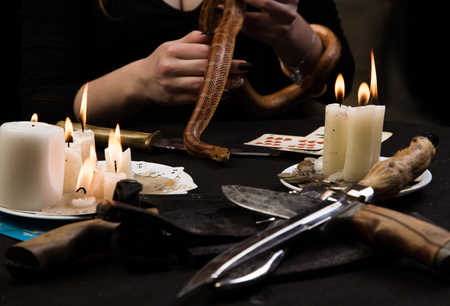 Witch refer to the dark forces of the serpent during the ritual of black magic