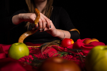 elixir: The snake participates in the magical ritual of the witch