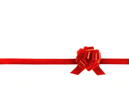 red bow: Image of ribbons tied with a red bow