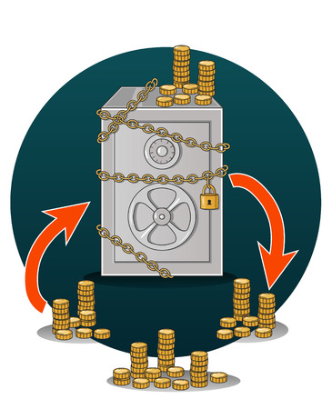 Vector illustration of a  safety of money Illustration