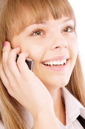 Businesswoman on phone, isolated on white background. Stock Photo - 6538648