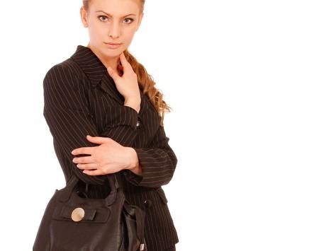 Modern elegant business female, isolated on white background. Stock Photo - 7467448