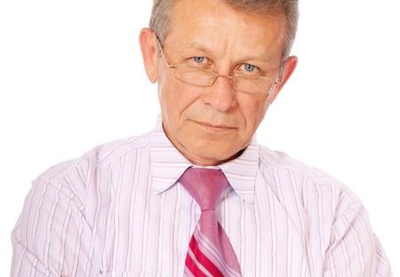 Portrait of senior business man, isolated on white background. Stock Photo - 7599918