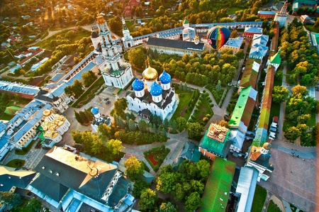 Piously-Troitsk Sergieva of Laurels. Top view from height of birds flight. photo