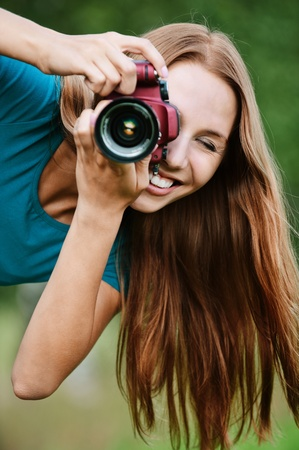 leaned: portrait young charming long-haired woman leaned photographs