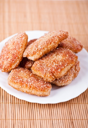 fried cutlet in bread crumbs photo
