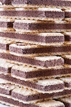 crunchy chocolate waffle Stock Photo - 11254859