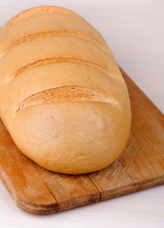 loaf bread (long loaf) cutting board Stock Photo - 11254795