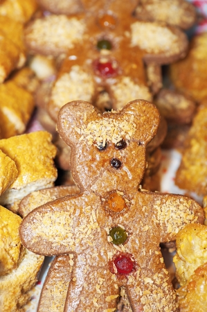 farinaceous: Biscuits in form of bears for holiday.