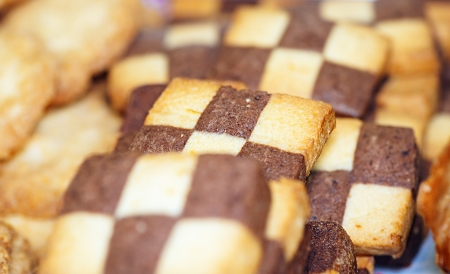 viands: Cookies with checkerboard pattern.