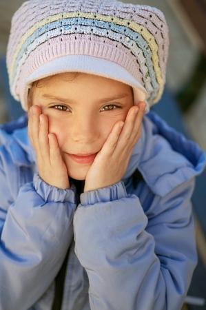 Happy girl-preschooler close-up. Stock Photo - 14521734