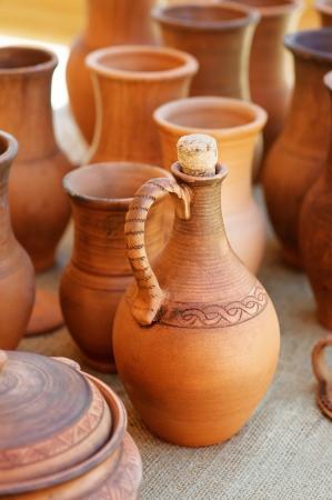 ollas de barro: Rusia ollas de barro tradicionales de trabajo manual.