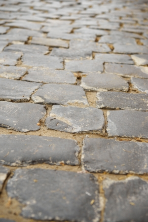 paving stone: Old stone blocks in historic part of city.