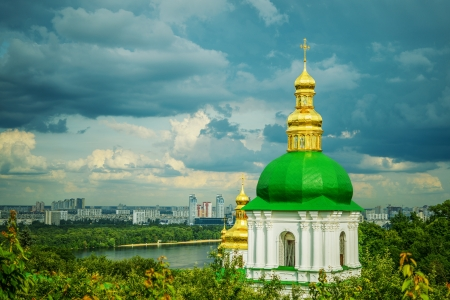 Temple near far caves of Kiev-Pechersk Lavra. photo