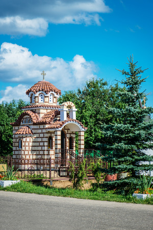 Chapel near Transfiguration Church in Radonezh, Russia photo