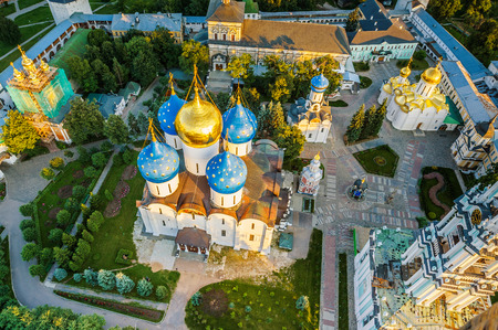 church dome: Piously-Troitsk Sergieva of Laurels. Top view from height of birds flight.
