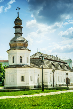 Refectory with Church of St. John Divine (1713) in Kiev, Ukraine. photo