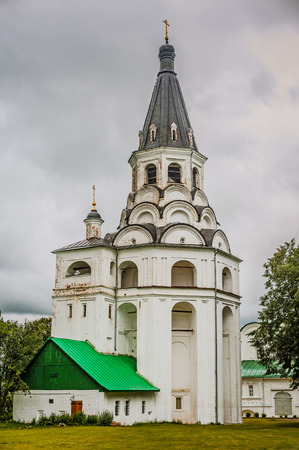 sacred trinity: Trinity Cathedral, tsar's residence in Alexandrovskaya village (also known as Alexandrovsky Kremlin) is an old Russian fortress which served as actual capital of oprichnina in Moscow state from 1564 until 1581. Stock Photo