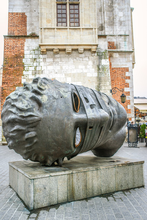 igor: Eros Bendato from Igor Mitoraj (Eros Bound) (bronze), 1999, exhibition in Kraków, Poland, 2003 r.
