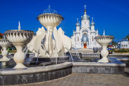 afghanistan: Orthodox Memorial Church of Archangel Michael. Bereza city, Belarus Stock Photo