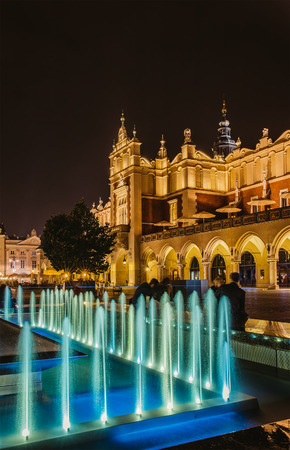 The main square of Old Town of Krakow, Lesser Poland, is principal urban space located at center of city. photo