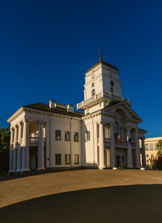 end times: A City hall in Minsk, Belarus is a symbol of municipal government. During 16-19th centuries it was rebuilt several times. The building acquired its final classical appearance by the end of 18th century.