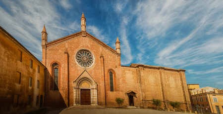 st  francis: Church of St. Francis in Mantua, Lombardy, northern Italy. Stock Photo
