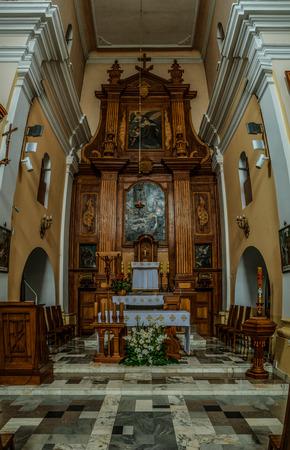 minor: Church Our Lady of Sorrows Friars Minor Capuchin in Lomza, st. curves Circle, Podlaskie Voivodeship, Poland
