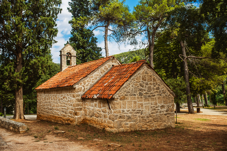 national parks: Stone old church of Krka National Park is one of Croatian national parks, named after river Krka that it encloses. It is located along middle-lower course in central Dalmatia, in Sibenik-Knin county