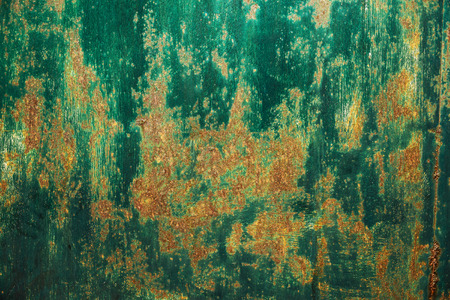 canvas art: Shelled green paint on an old wall.