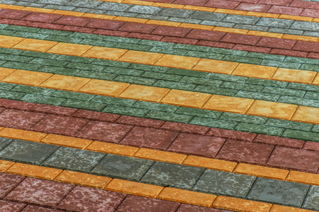 paving: Colorful paving stone.