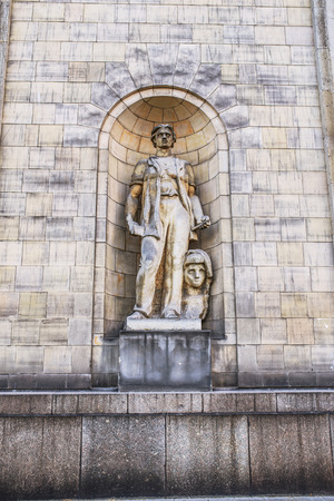 european culture: Sculpture on Palace of Culture and Science in Warsaw is the tallest building in Poland and the eighth tallest building in the European Union.