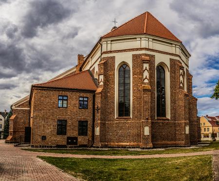 archangel: Lomza, Poland, st. Dworna. Cathedral of Saint Michael the Archangel, XVI century Stock Photo