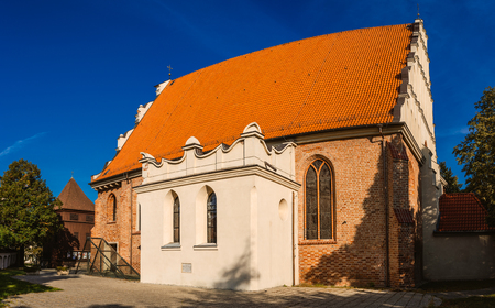 the nazis: The Church of St. Adalbert or the Church of St. Wojciech in Poznan, Poland, was constructed in 15th century. It was the one of only two Polish churches under the Nazis (1939–1944). Stock Photo