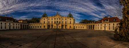 earlier: Branicki Palace is a historical edifice in Bialystok, Poland. It was developed on the site of an earlier building in the first half of the 18th century by Jan Klemens Branicki.