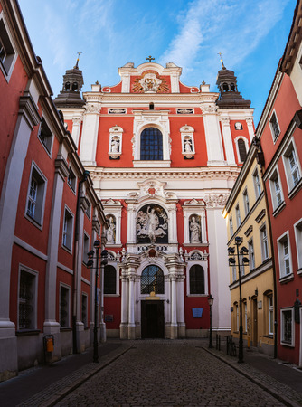 st nicholas: Collegiate Basilica of Our Lady of Perpetual Help and St. Mary Magdalene in Poznan, Poland - Baroque parish church and at the same time collegiate of St. Nicholas.