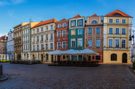 wielkopolska: Old city in Poznan. Poznan is a city on the Warta river in west-central Poland, in the region called Wielkopolska (Greater Poland). Stock Photo
