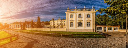 manor: Branicki Palace is a historical edifice in Bialystok, Poland. It was developed on the site of an earlier building in the first half of the 18th century by Jan Klemens Branicki.