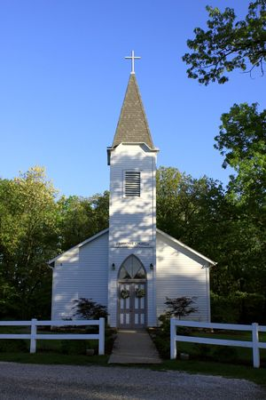 Old Country Church 版權商用圖片