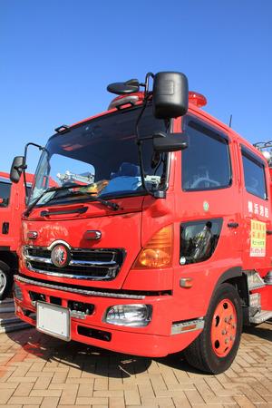 voiture de pompiers: Incendie moteur �ditoriale