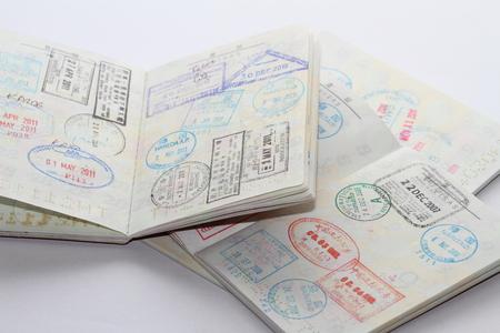 パスポートにビザ