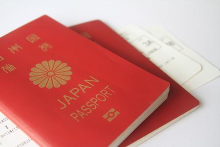 일본 여권 및 탑승권 스톡 콘텐츠
