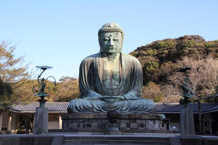Der große Buddha in Kotoku-in Tempel Standard-Bild - 31134493
