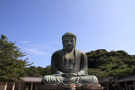 The Great Buddha in Kotoku-in temple photo