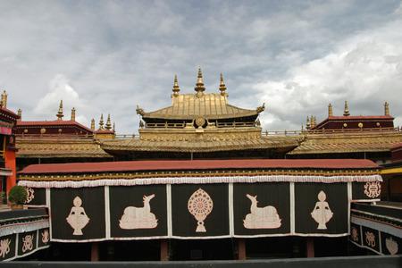 Jokhang temple in Tibet Stock Photo