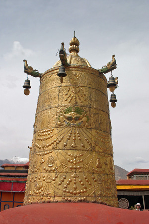people's cultural palace: Temple bell at Jokhang temple in Tibet