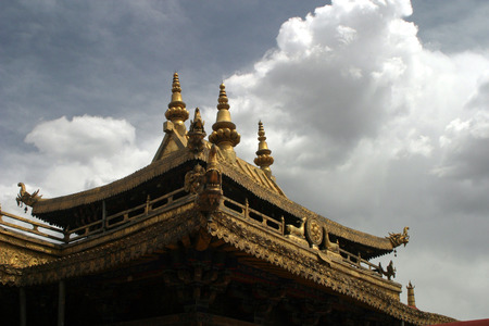 dalai: Jokhang temple in Tibet Stock Photo