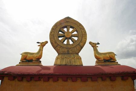 Teachings of Buddha at Jokhang temple in Tibet