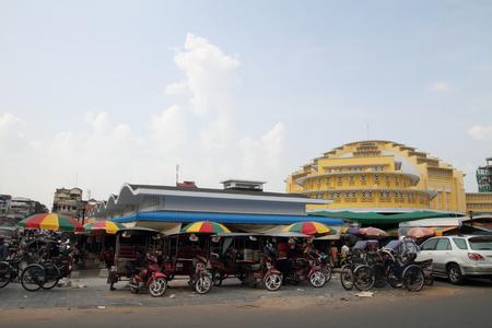 central market: Mercado central de Phnom Penh, Camboya